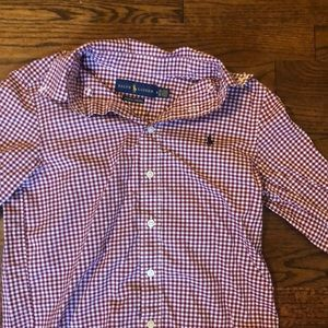 Ralph Lauren burgundy button down shirt size Y M